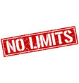 no limits square grunge stamp vector image