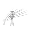 power lines vector image