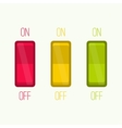 Wall Switch on off position vector image