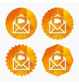 Video mail icon Video camera symbol Message vector image vector image