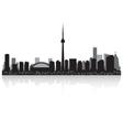 Toronto Canada city skyline silhouette vector image vector image