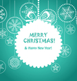 Green Christmas greeting card vector image
