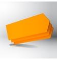 3D orange arrow boards vector image