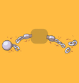 Cartoon of shackles vector image vector image