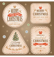 Christmas retro labels vector image