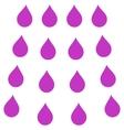 Drops Flat Symbol vector image