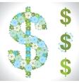 dollar Flower texture vector image vector image