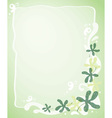 Leafy template vector image vector image