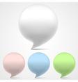 3d speech bubbles set vector image vector image