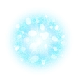 Abstract explosion with blue white dust elements vector image