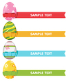 Easter Egg Ribbon Border Color vector image