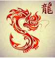 Fire dragon tattoo shape vector image