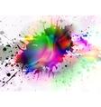 glowing splash vector image