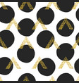 gold geometric triangle with dots background vector image