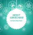 Green Christmas greeting card vector image
