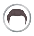 Man s hairstyle icon in cartoon style isolated on vector image
