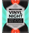 vintage vinyl LP DJ party poster vector image