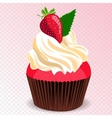 Strawberry cupcake vector image