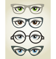 Glasses2 vector image vector image