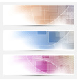 Modern geometry business cards collection vector image vector image