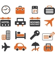 travel signs set vector image vector image