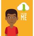 Follow me social trendy vector image