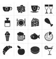 Black Food Drink and beverage icons vector image vector image