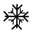 black icon snowflake cartoon vector image