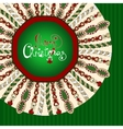 Christmas stylized knitted background vector image