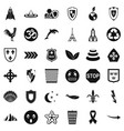 emblem icons set simple style vector image
