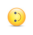 inverted smiley face turned on the side emoticon vector image
