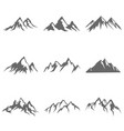 mountain object in flat silhouette style vector image