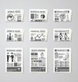 Newspaper daily flat set design template vector image