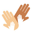 people hands showing greeting wrist direction vector image