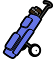 Golf bag vector image vector image