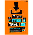 7 day free trial vector image