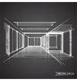 empty room of interior design vector image