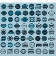 Racing badges - big blue set vintage style vector image