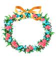 retro wreath vector image vector image