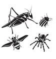 Insect collection - silhouette vector image