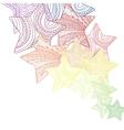 decorative ornate stars vector image