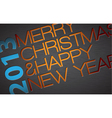 Abstract typography Christmas vector image