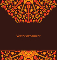 autumn circular ornament vector image