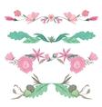Floral Vignettes in Pale Colors vector image