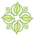 Icon green leaves vector image