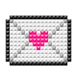icon lovemail vector image