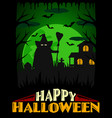 scary halloween background green vector image