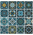 seamless damask pattern abstract tiles set vector image