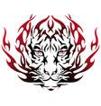 tiger image design tattoo emblem vector image