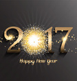 Happy New Year background with firework design vector image vector image
